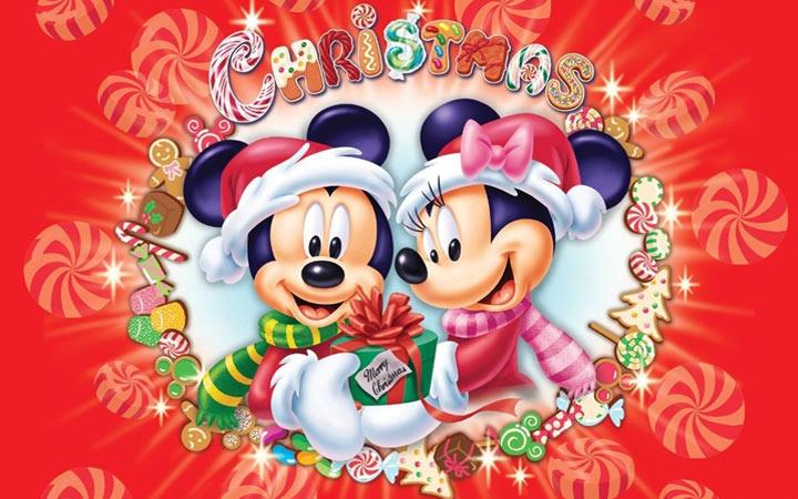 Новогодний Мики Маус рисунок