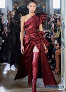 Платье Elie Saab с разрезом и бантами на 2020 год