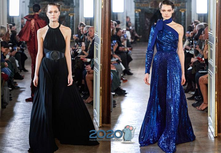 Платье плиссе от Elie Saab осень-зима 2019-2020