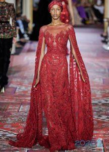 Платье с длинными рукавами Zuhair Murad осень-зима 2019-2020