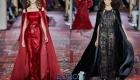 Вечернее платье с накидкой Zuhair Murad осень-зима 2019-2020