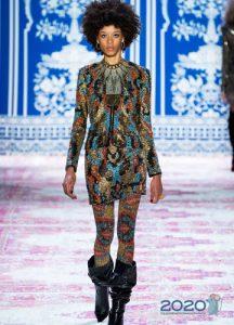 Короткое платье Naeem Khan осень-зима 2019-2020
