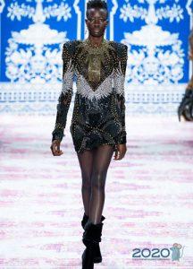 Короткое вечернее платье Naeem Khan осень-зима 2019-2020
