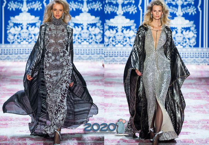 Длинное платье со шлейфом Naeem Khan осень-зима 2019-2020