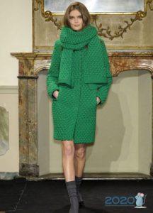 Вязаная мода сезона осень-зима 2019-2020 - модное пальто