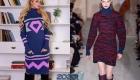 Модные вязаные платья на зиму 2019-2020