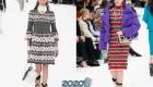 Вязаные платья Шанель осень-зима 2019-2020