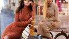Модные модели вязаных платьев на 2020 год