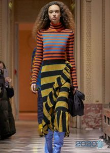 Модная вязаная юбка на 2020 год