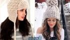 Модная вязаная шапка на 2020 год