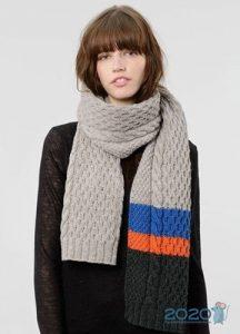 Вязаный шарф осень-зима 2019-2020