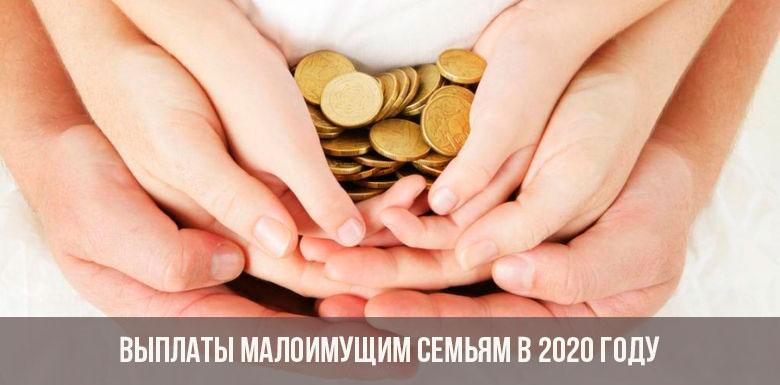 Выплаты малоимущим семьям в 2020 году