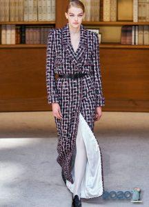 Твидовое платье-пальто Haute Couture Шанель осень-зима 2019-2020