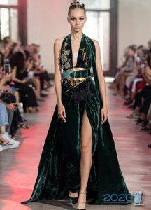 Платье с разрезом Elie Saab осень-зима 2019-2020 от-кутюр