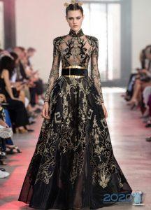 Платье с вышивкой Elie Saab осень-зима 2019-2020 от-кутюр