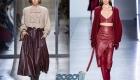 Кожаная юбка для базового гардероба осень-зима 2019-2020