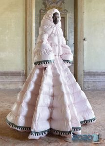Пуховик платье осень-зима 2019-2020