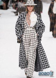 Клетчатый принт Шанель осень-зима 2019-2020