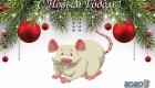 Новогодние картинки и открытки на 2020 год с Белой Крысой
