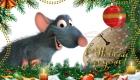 Открытка с крыской Рататуй с Новым Годом 2020