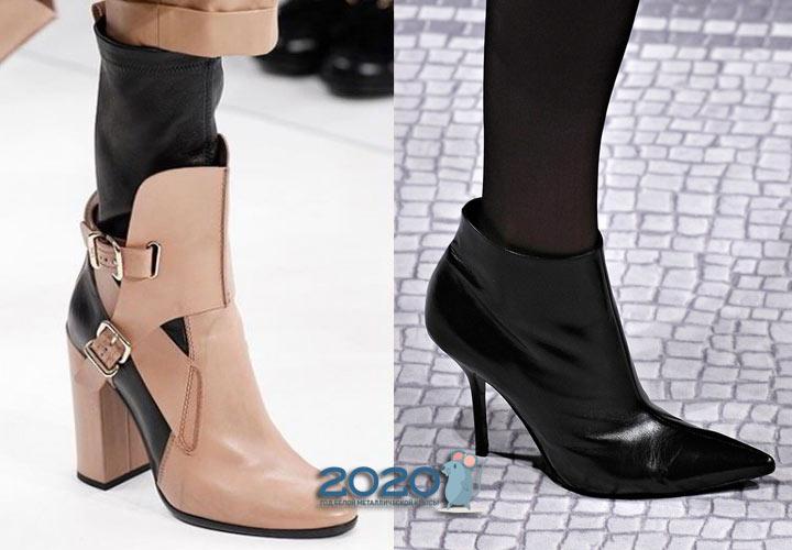 Модные ботильоны с круглым и острым носком на 2020 год