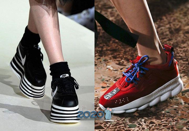 Модные кроссовки на платформе осень-зима 2019-2020