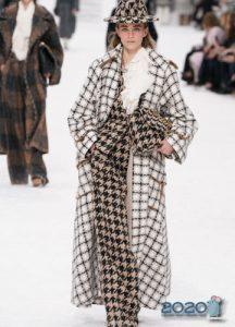 Гусиная лапка коллекция Шанель осень-зима 2019-2020