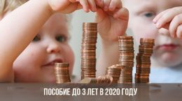 Пособие до 3 лет в 2020 году