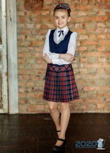 Школьная юбка в складку на 2019-2020 учебный год