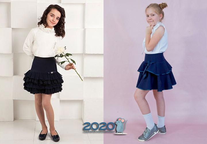 Школьная юбка с оборками на 2020 год