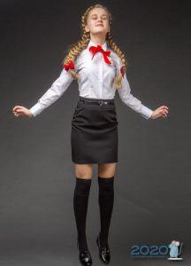 Классическая юбка в школу на 2019-2020 год