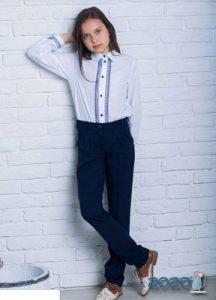 Синие школьные брюки для девочки на 2020 год