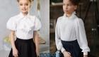 Белая блузка - маст хэв школьной моды 2019-2020 года