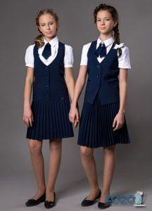 Костюм двойка девочке в школу на 2020 год