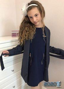 Кардиган и платье - школьная мода на 2020 год