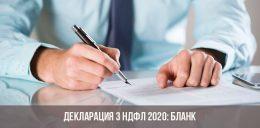 Декларация 3 НДФЛ в 2020 году