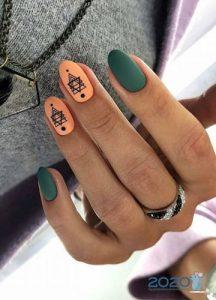 Модный матовый дизайн ногтей на 2020 год