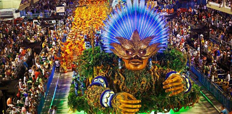 украшенная платформа на карнавале рио-де-женейро