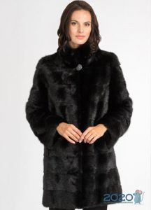 Русская норка черная - модные шубы 2020 года