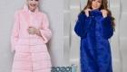 Модная крашеная норка на зиму 2019-2020