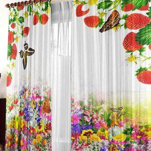 Красивые шторы для кухни с фотопечатью на 2020 год