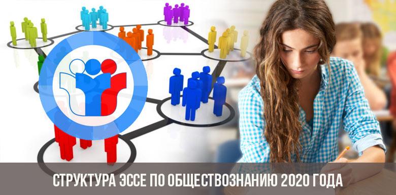 Структура эссе по обществознанию 2020 года