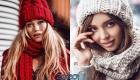 Вязаная шапка оверсайз осень-зима 2019-2020