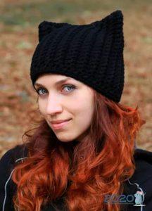 Модная вязаная шапка на зиму 2019-2020