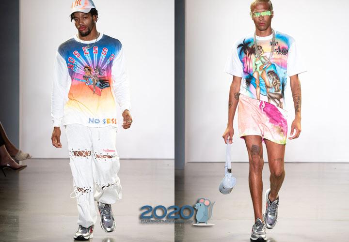 Мужские серебристые кроссовки весна-лето 2020