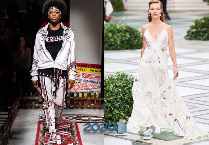 Модные серебристые кроссовки весна-лето 2020