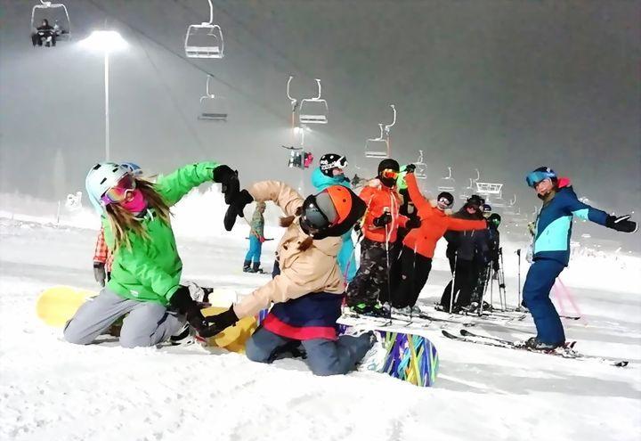 Катание на лыжах в Питере
