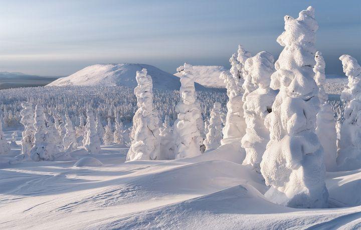 Снежная зима на Урале
