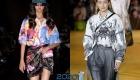 Блузки весны 2020 года с флористическим принтом