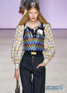 Блузка и жилет - модные образы 2020 года